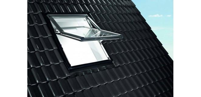 Окно мансардне Roto Designo WDF R79 K W WD AL 07/14 (74x140 см) пластик